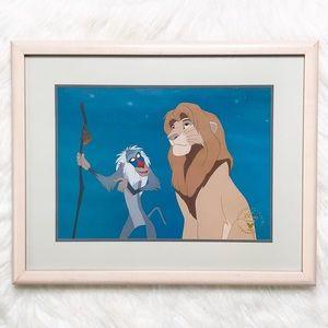Vintage Disney Store Lion King 1990s Lithograph